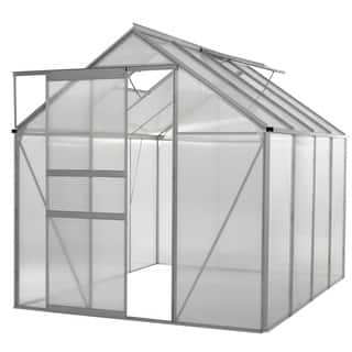 oGrow® WALK-IN 6' X 8' Lawn and Garden Greenhouse with Heavy Duty Aluminum Frame|https://ak1.ostkcdn.com/images/products/9989802/P17140175.jpg?impolicy=medium