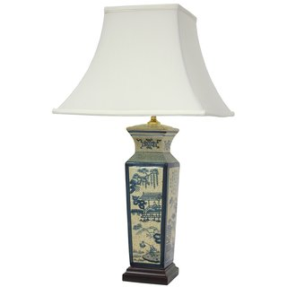 Handmade Ming Vase Oriental Lamp (China)