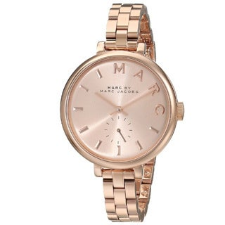 Marc Jacobs Women's MBM3364 Baker Slim Round Rosetone Bracelet Watch