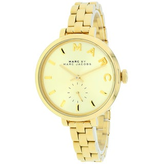 Marc Jacobs Women's MBM3363 Baker Slim Round Goldtone Bracelet Watch