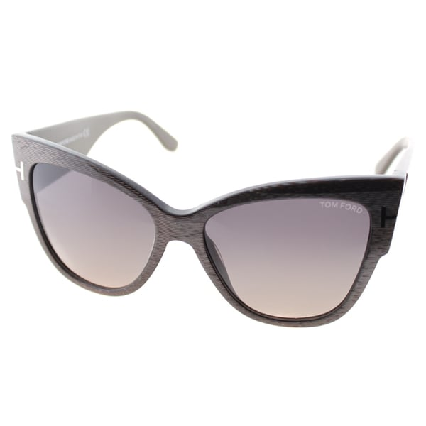 Sunglasses Tom Ford  tom ford anoushka womens tf 371 38b dove grey plastic cat eye