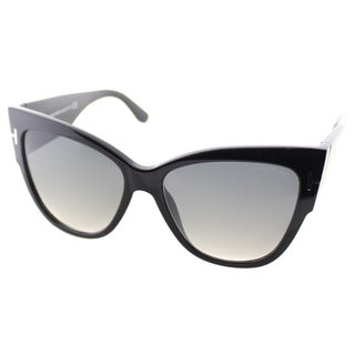 Tom Ford Anoushka Womens TF 371 01B Cat-Eye Sunglasses