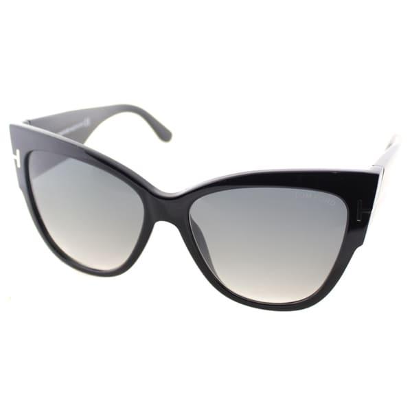5adf65cb3d34 Shop Tom Ford Anoushka Womens TF 371 01B Cat-Eye Sunglasses - Free ...