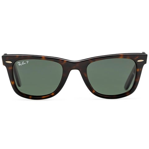 Ray Ban Unisex RB 2140 Original Wayfarer 902/58 Havana Plastic Polarized 50mm Sunglasses