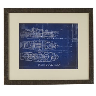 Main Deck Matted Framed Giclee Print Wall Art with Glass