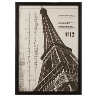 Vintage Eiffel Tower Framed Giclee Print Wall Art