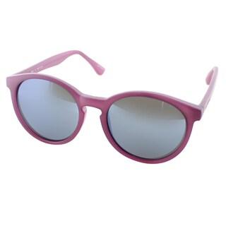 Isaac Mizrahi Womens IM 43 75 Matte Purple Plastic Round Sunglasses