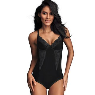 Flexees Pretty Shapewear Embellished Unlined Body Briefer