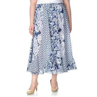La Cera Women's Plus Size Novelty Print Full Length Skirt|https://ak1.ostkcdn.com/images/products/9990739/P17141069.jpg?_ostk_perf_=percv&impolicy=medium