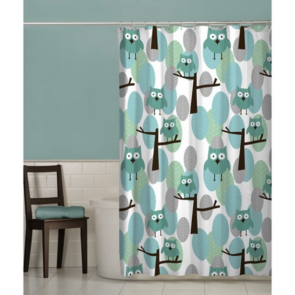 Maytex Owl Fabric Shower Curtain