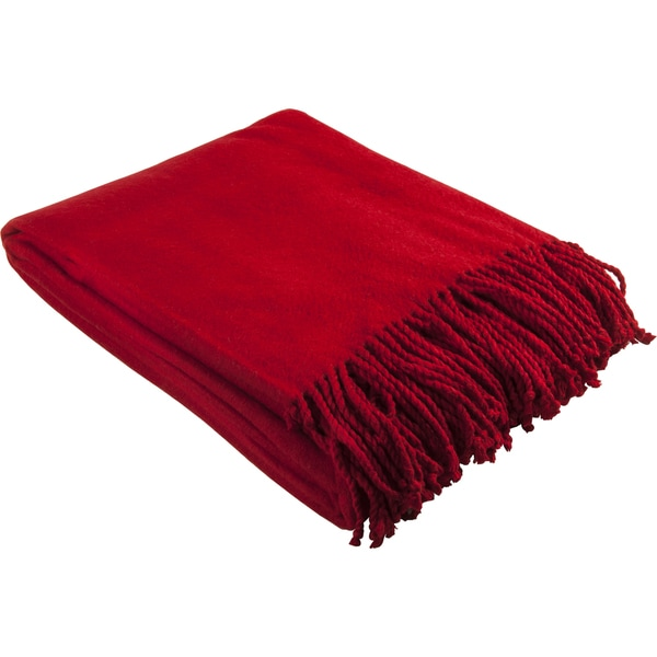 Aus Vio Silk Red Throw