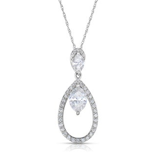 14k White Gold 4/5ct TDW Diamond Necklace (H-I, I1-I2)
