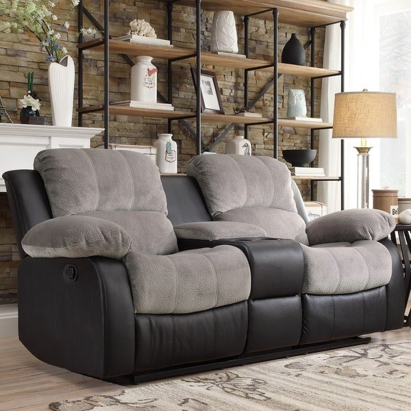 Shop Tribecca Home Coleford Two Tone Grey Black Tufted