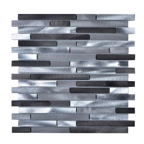Multi-Grey Aluminum Wall Tile