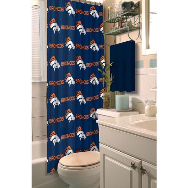 NFL Broncos Shower Curtain