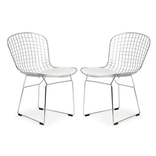 Poly and Bark Morph Wire Dining Chair (Set of 2)