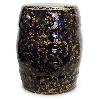 Black Pagoda Porcelain Garden Stool