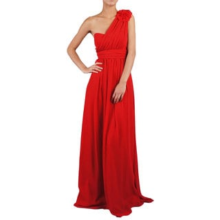 DFI Women's Bridesmaid/ One-shoulder Evening Gown