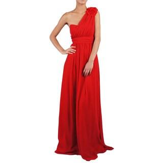 DFI Women's Bridesmaid/ One-shoulder Evening Gown