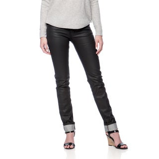 Andrew Charles Women's Rock Black Coated Skinny Jean