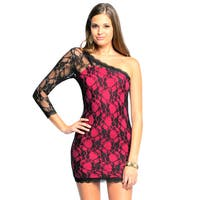 Sara Boo One-shoulder Allover Lace Dress