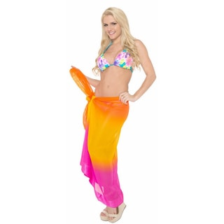 La Leela Gradient Jacquard Border Beach Swim Hawaiian Sarong Cover up Wrap Pareo Tunic