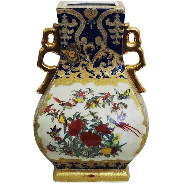 Royal Medallion Porcelain Gourd Square Vase