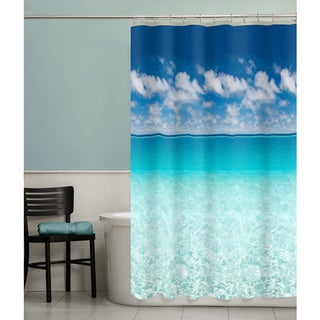 Maytex Escape Ocean Photoreal PEVA Shower Curtain