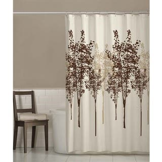 brown and beige shower curtain. Maytex Delaney Fabric Shower Curtain  Option Brown Curtains For Less Overstock com Vibrant