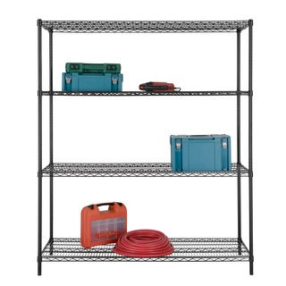 Excel Black (72 in. H x 60 in. W x 24 in. D) All Purpose Heavy Duty 4-tier Wire Shelving