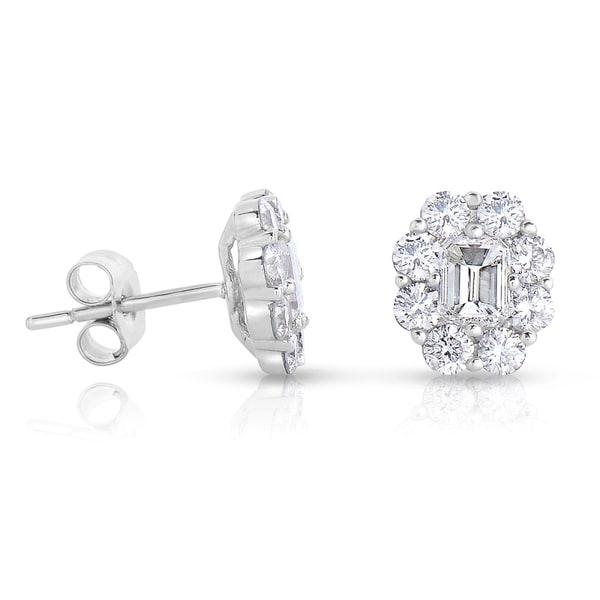 382721661 Shop 14k White Gold 1 3/5ct TDW Diamond Stud Earrings - Free ...