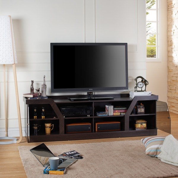 Furniture Of America Dellie Contemporary Espresso TV Stand
