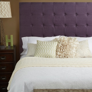 Humble + Haute Stratton Iris Purple Linen Tall Queen Tufted Upholstered Headboard
