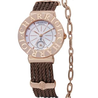 Charriol Women's ST30CP1.563.007 'St Tropez' Mother of Pearl Dial Bronze Stainless Steel Quartz Watc|https://ak1.ostkcdn.com/images/products/9991165/P17141476.jpg?impolicy=medium