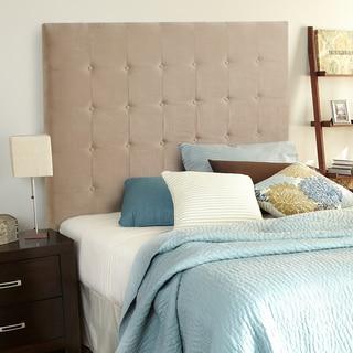 Humble + Haute Stratton Velvet Sand Tall Queen Tufted Upholstered Headboard