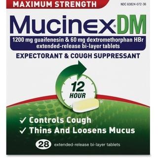 Reckitt Benckiser Mucinex DM Max Strength Tablets