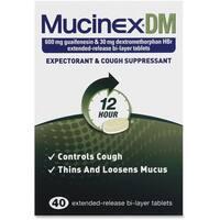 Reckitt Benckiser Mucinex DM Cough Tablets