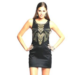 Sara Boo Women's Metallic Embellished Dress
