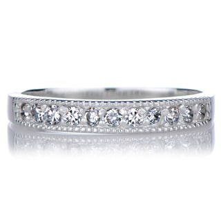 Sterling Silver Cubic Zirconia Eternity Band Ring