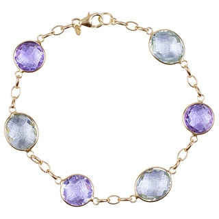 Link to 14k Gold Green/ Pink Amethyst Bracelet - Purple Similar Items in Women's Watches
