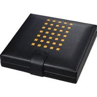 Visol Mod Black Leather Cigar Humidor (Holds 22 Cigars
