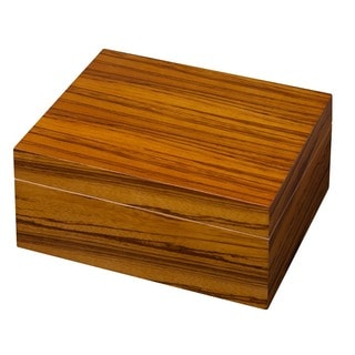Visol Wood Veneer Cigar Humidor (Holds 50 Cigars)