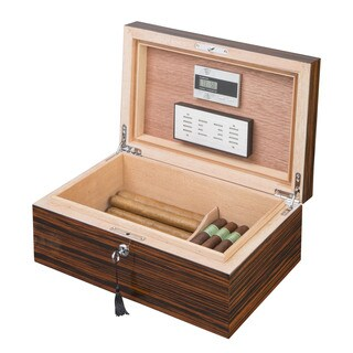 Visol Richardson Ebony Exotic Wood Humidor (Holds 100 Cigars)