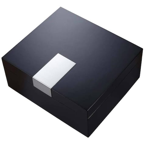 Visol Marcus Black Matte Cigar Humidor (Holds 50 Cigars)