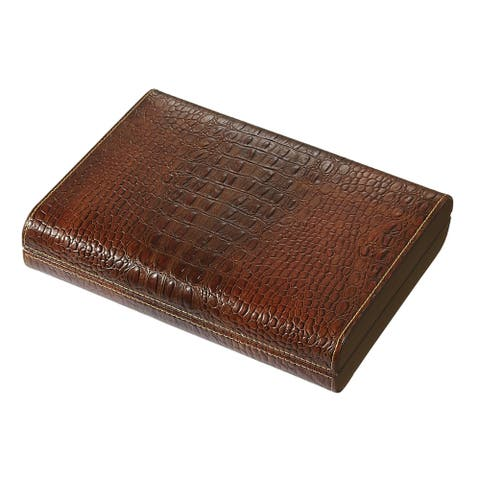Visol Sobek Brown Leather Humidor (Holds 10 Cigars)