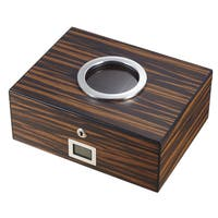 Visol PortHole Ebony Finish Cigar Humidor (Holds 75 Cigars)