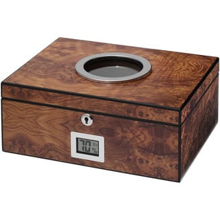 Visol PortHole Burlwood Finish Cigar Humidor (Holds 75 Cigars)|https://ak1.ostkcdn.com/images/products/9991374/P17141615.jpg?impolicy=medium