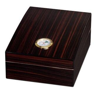 Visol Golden Ebony Finish 75 Cigar Humidor