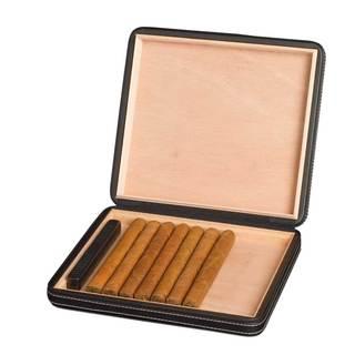 Visol Black Leatherette Cigar Humidor