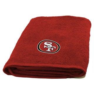 NFL 929 49ers Applique Bath Towel